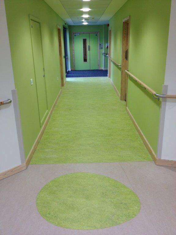 Cefn Coed Hospital Linoleum Flooring 2