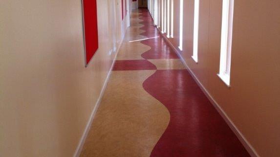 Ysgol Plas Mawr Linolium flooring