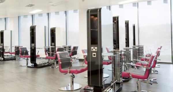 Amtico Tiles At Merthyr College Hair Salon Floor Furnishings Limited
